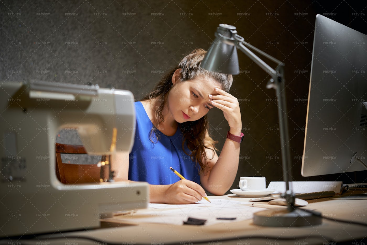 Woman Expressing Ideas On Paper: Stock Photos