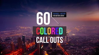 60 Colored Call Outs: Premiere Pro Templates