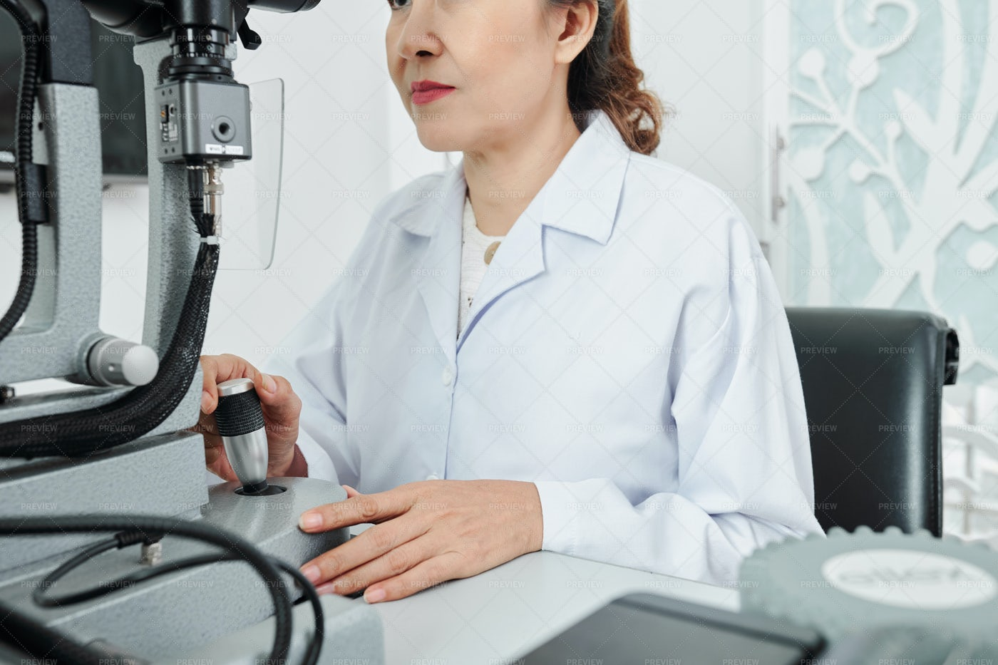 Doctor Working With Medical Equipment: Stock Photos