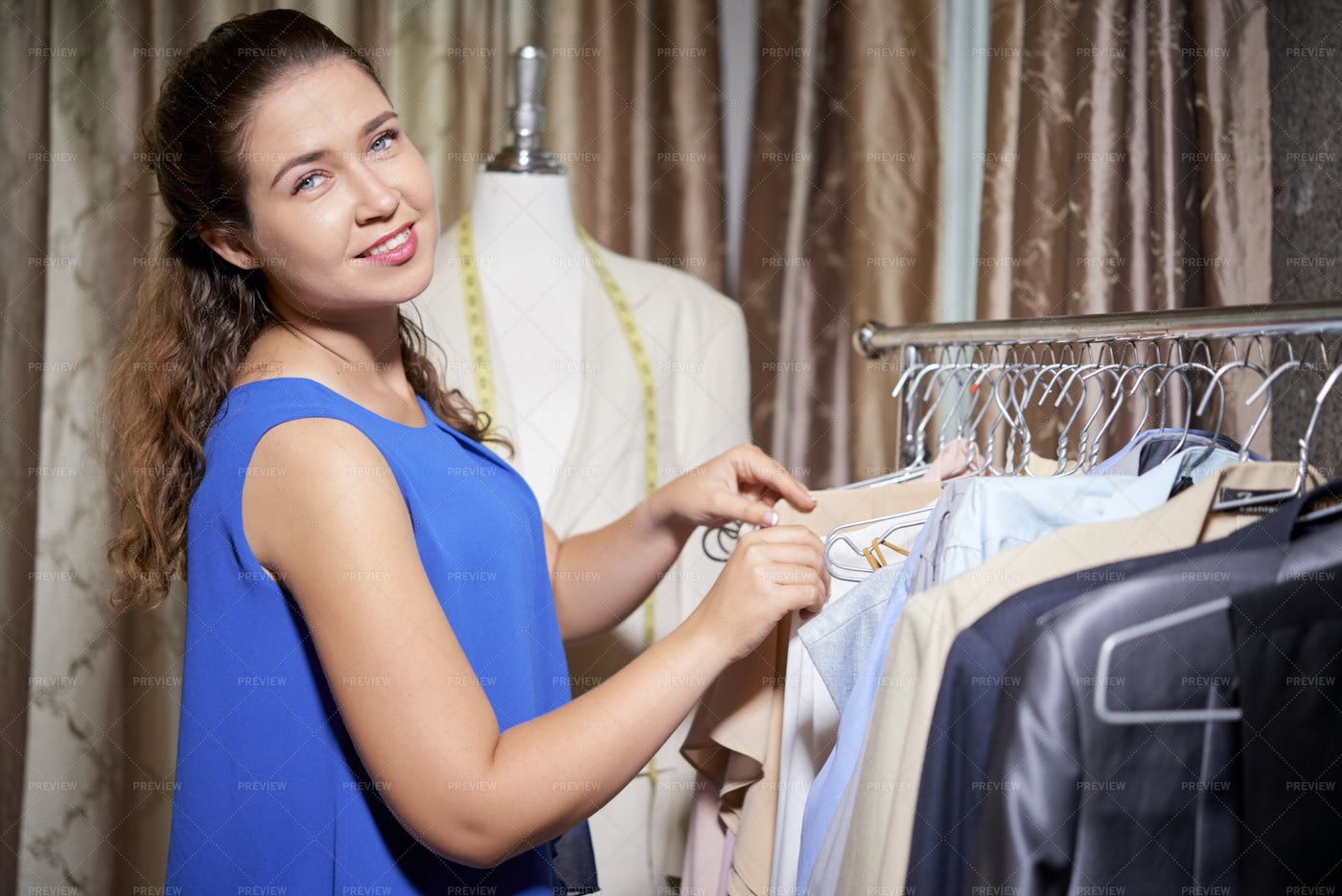 Tailor Working With New Collection Of: Stock Photos