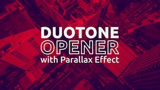 Duotone Opener with Parallax Effect: After Effects Templates