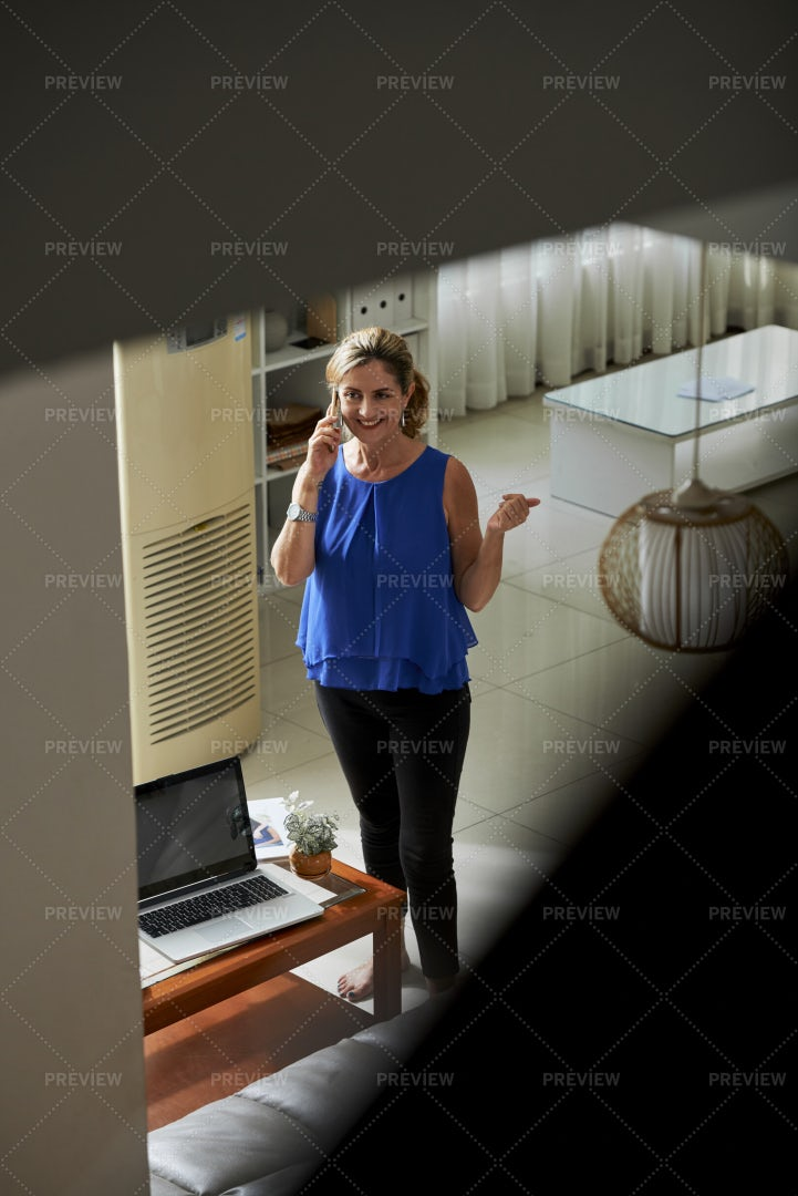 Woman Busy On The Phone: Stock Photos