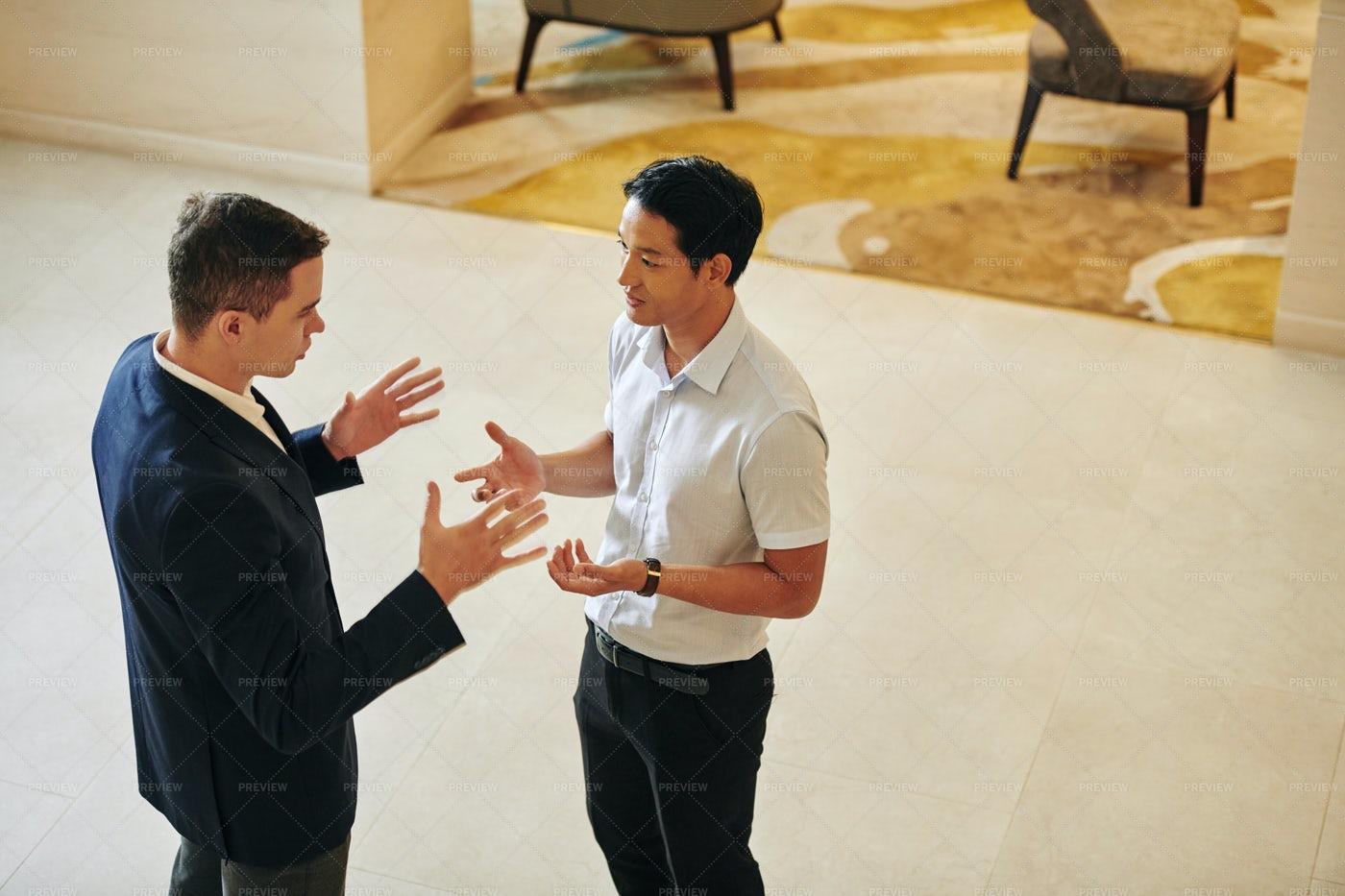 Talking Gesturing Business People: Stock Photos
