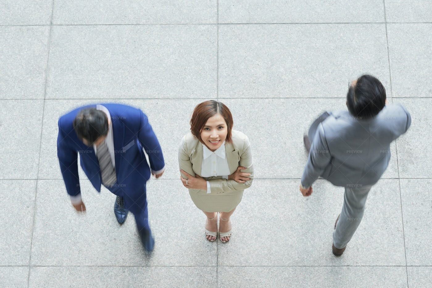 Businesswoman Standing At Office: Stock Photos