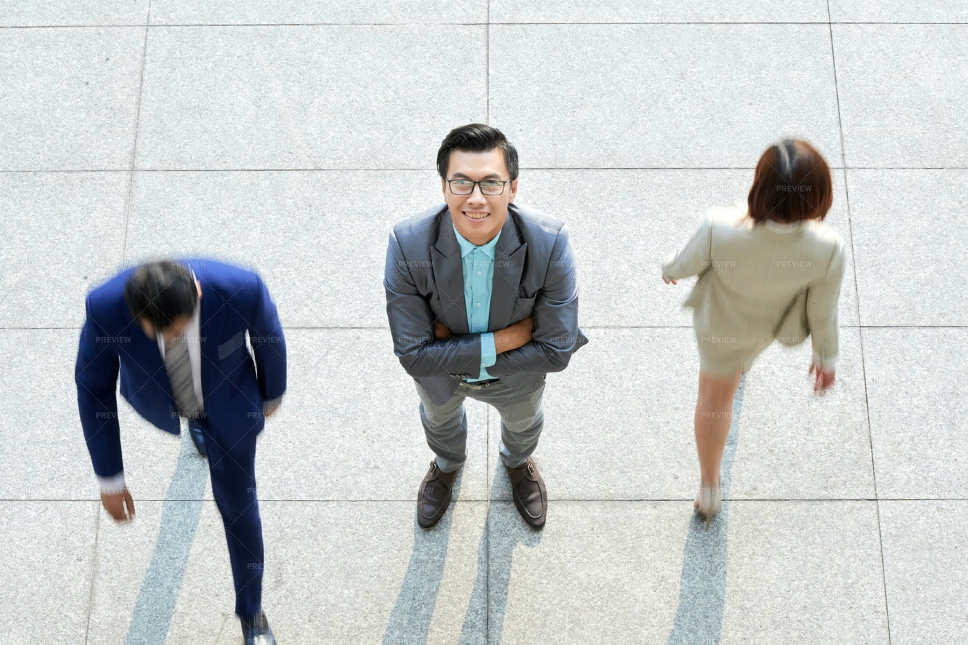 Businessman Standing At Office: Stock Photos
