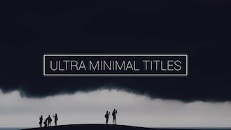 Ultra Minimal Titles: Premiere Pro Templates