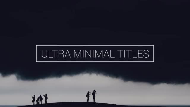 Ultra Minimal Titles: Premiere Pro Templates