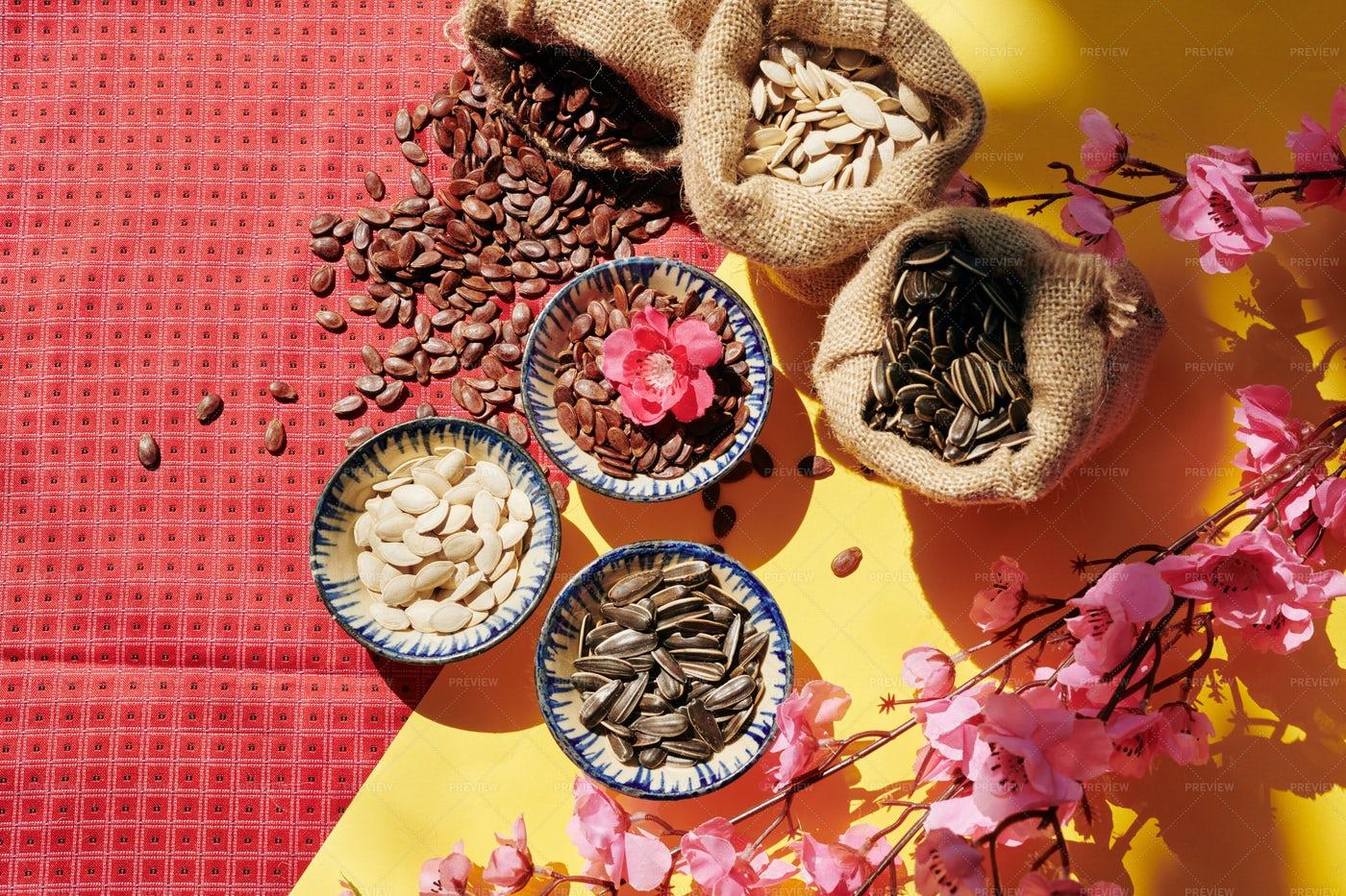 Seeds For Spring Festival: Stock Photos