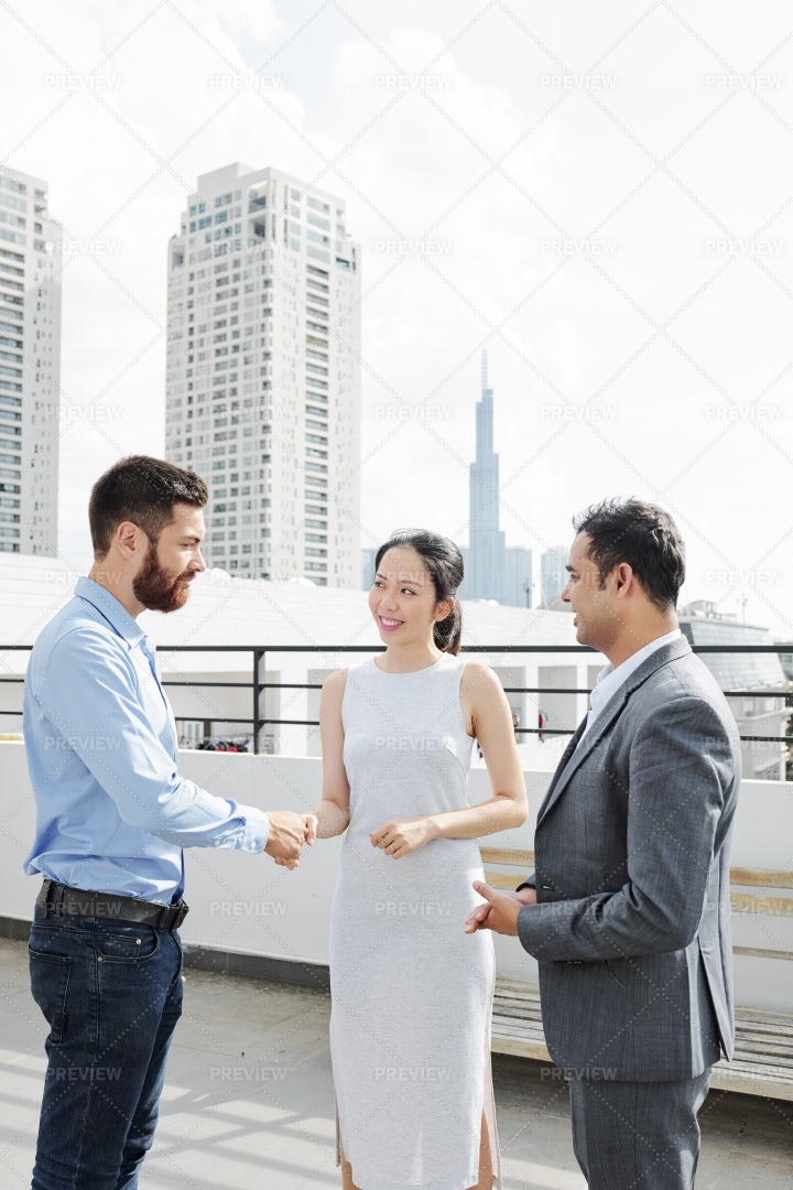 Business Handshake At Office: Stock Photos