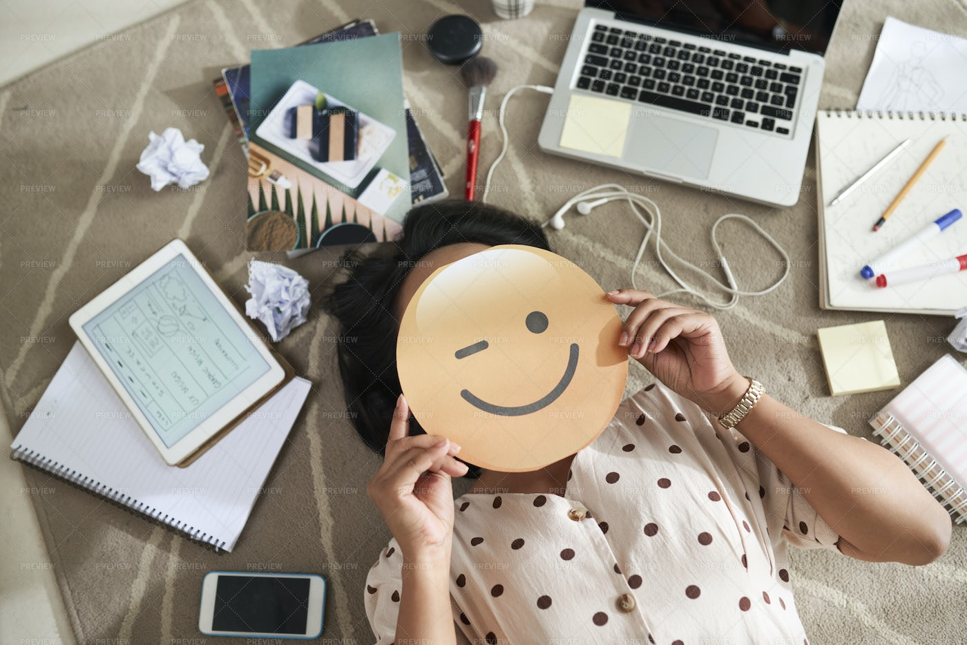 Businesswoman With Smiling Face In: Stock Photos