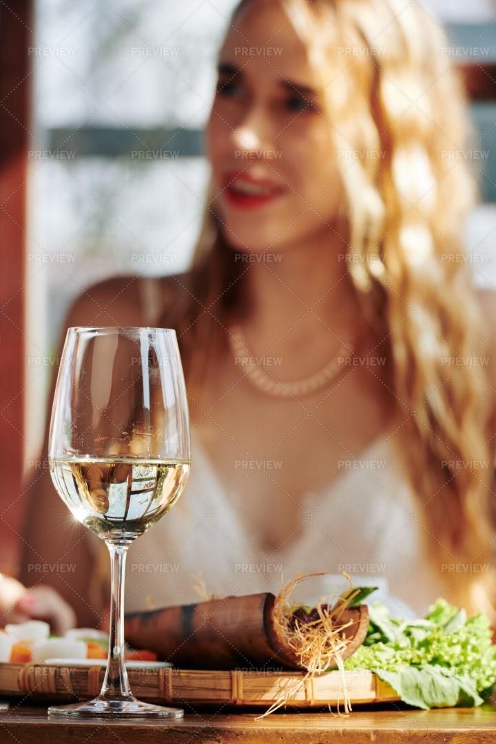 Wine On Dinner Table: Stock Photos