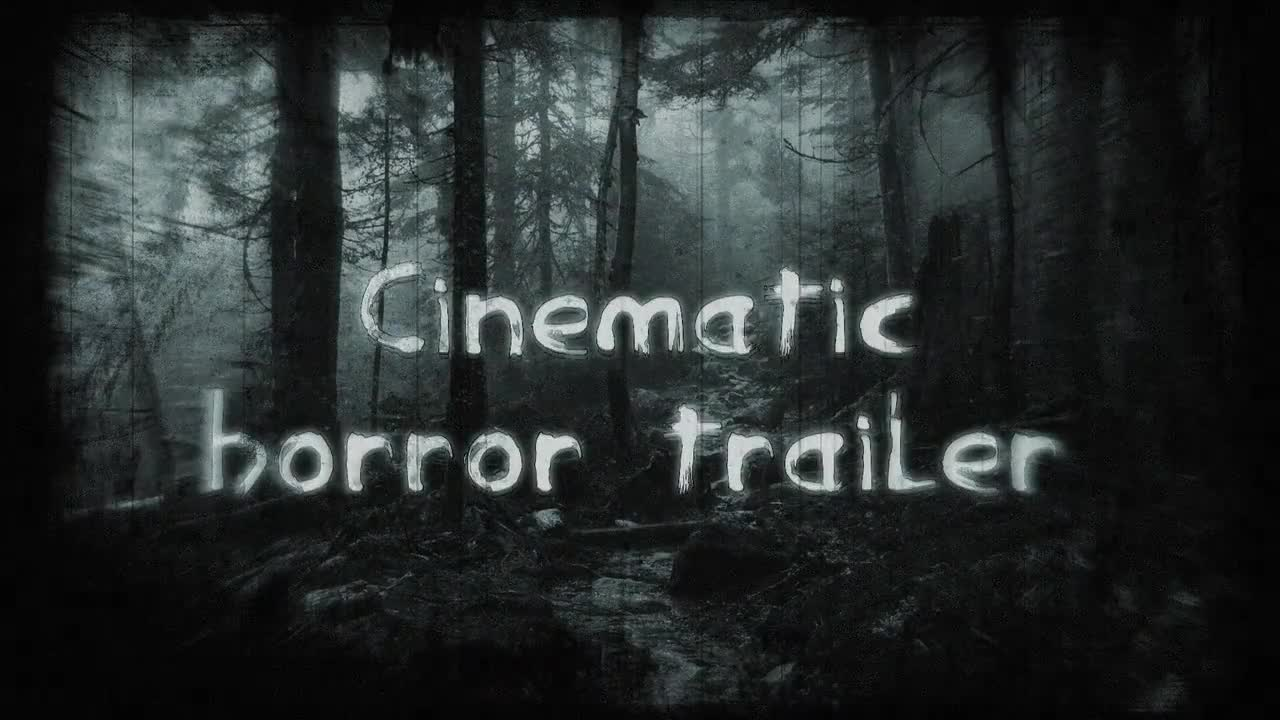 Cinematic Horror Trailer - After Effects Templates | Motion