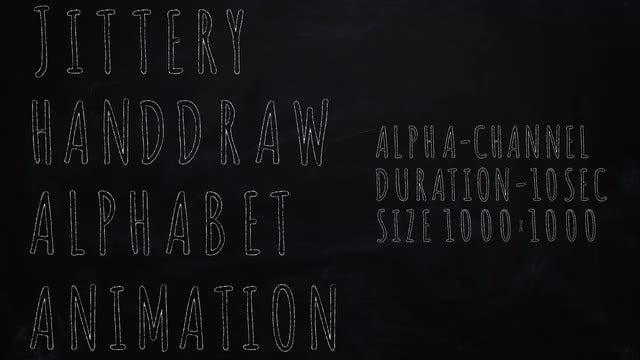 Jittery Handdraw Alphabet Animation: Stock Motion Graphics