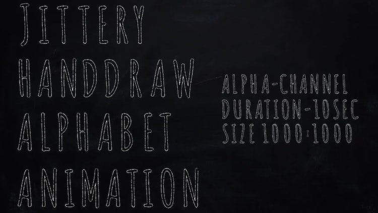 Jittery Handdraw Alphabet Animation: Motion Graphics