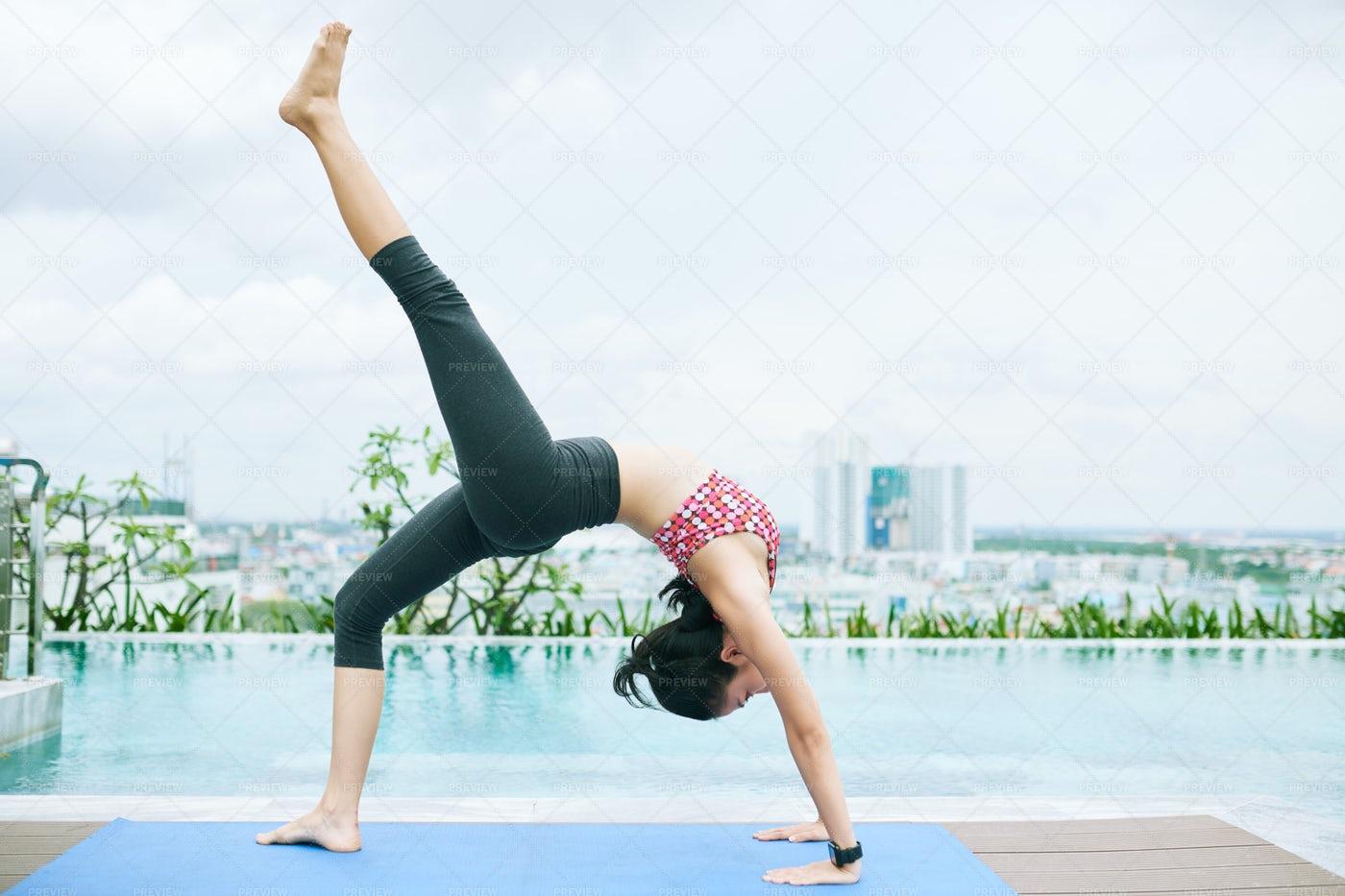 Woman Exercising During Training: Stock Photos