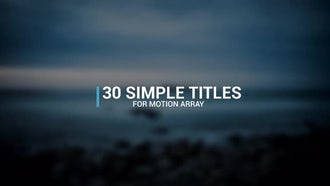 30 Simple Titles: Premiere Pro Templates