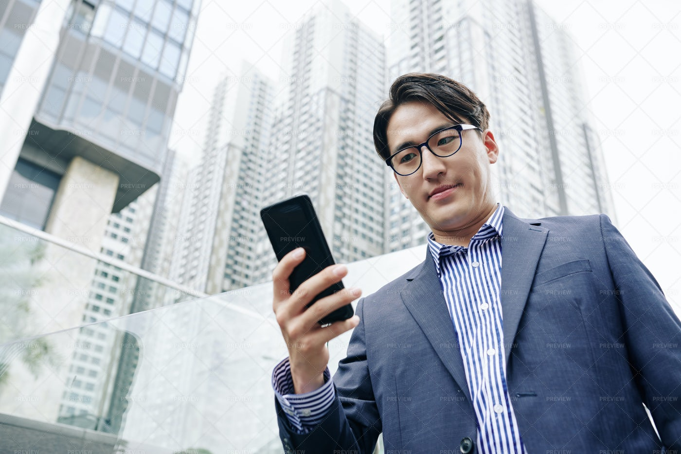 Man Checking Notifications: Stock Photos