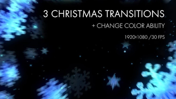 Snowflakes ChristmasTransitions: Motion Graphics