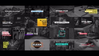 Social Media Titles Package: Premiere Pro Templates
