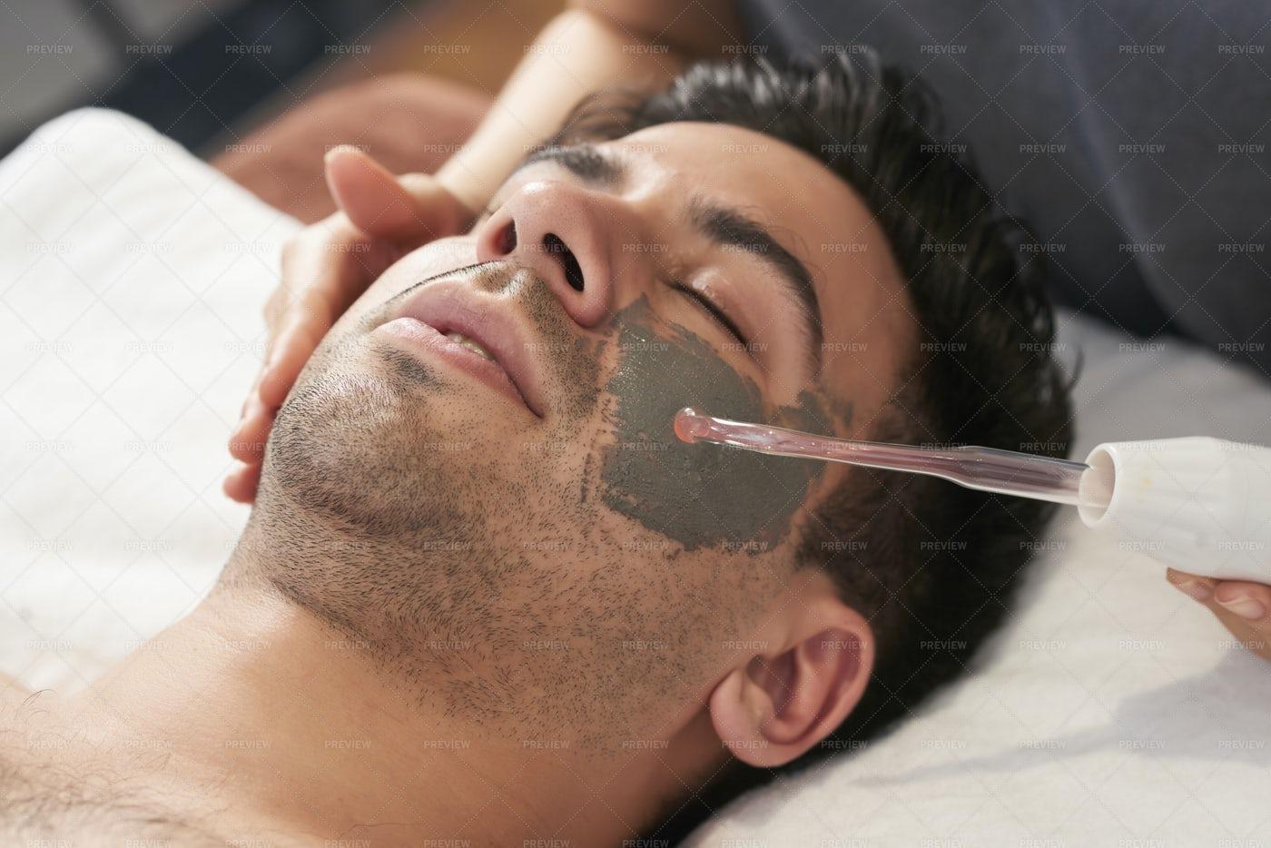 Rejuvenation Procedure For Man: Stock Photos