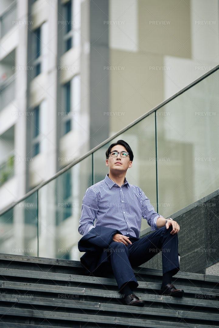Dreamy Asian Entrepreneur: Stock Photos