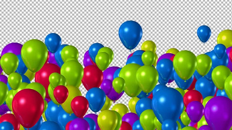 Balloons Transition: Stock Motion Graphics