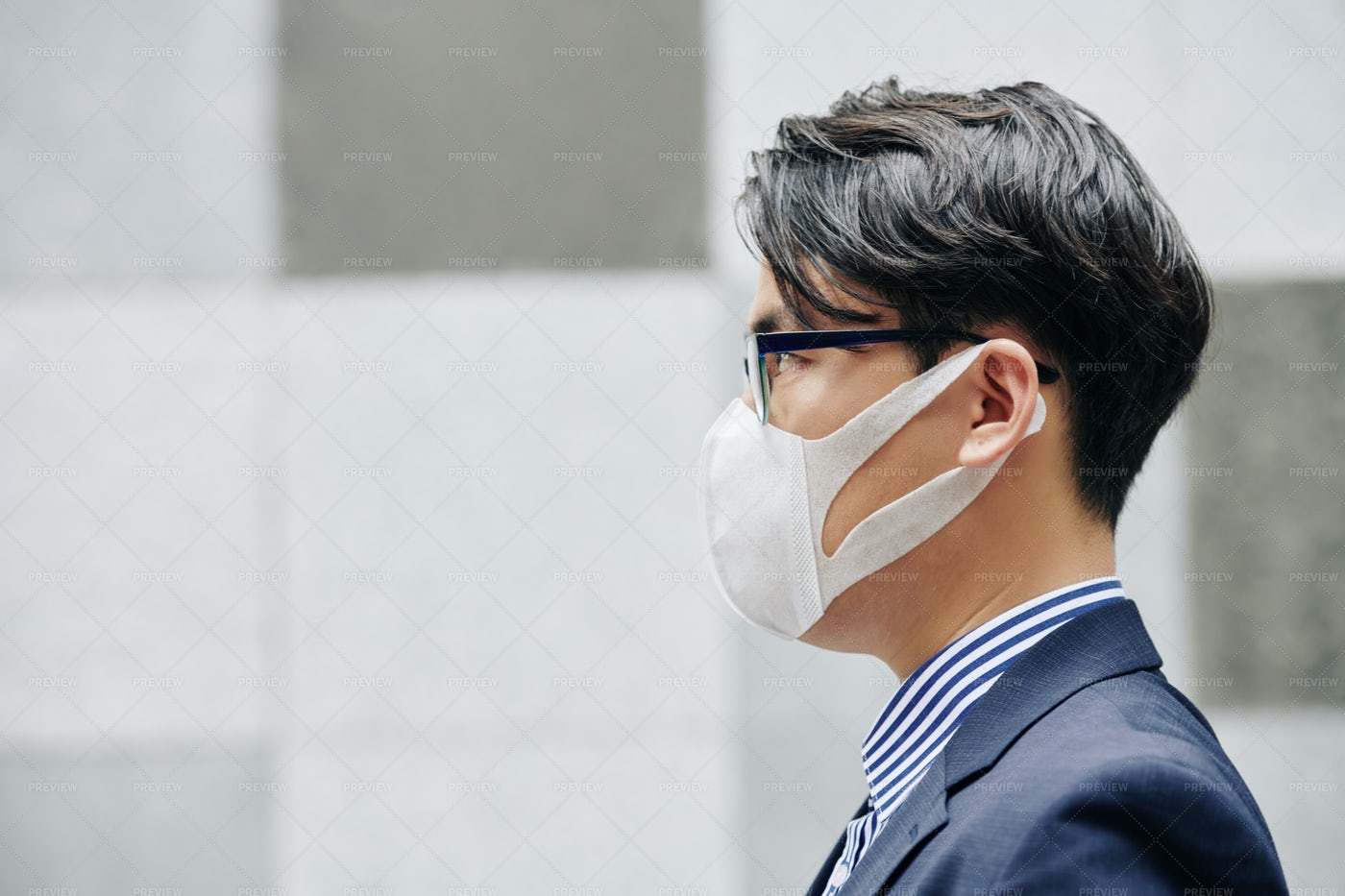 Man In Protective Mask: Stock Photos