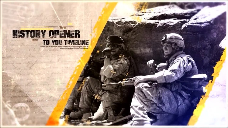 History Opener: After Effects Templates