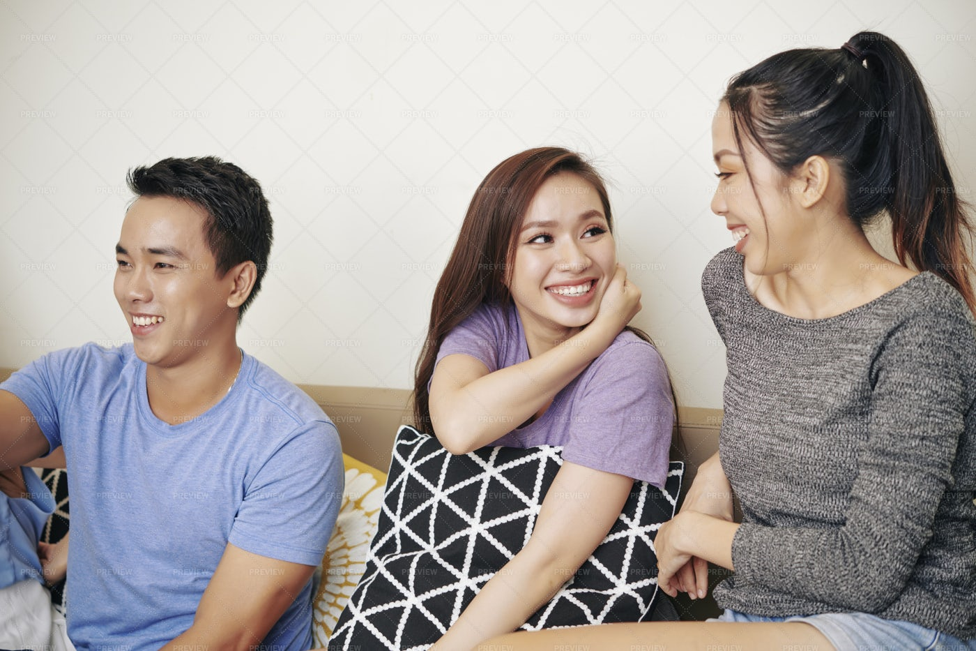 Gossipping Female Friends: Stock Photos
