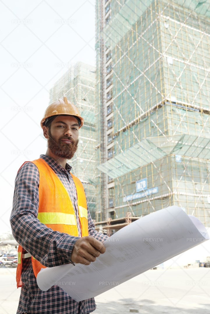 Architect At Construction Site: Stock Photos