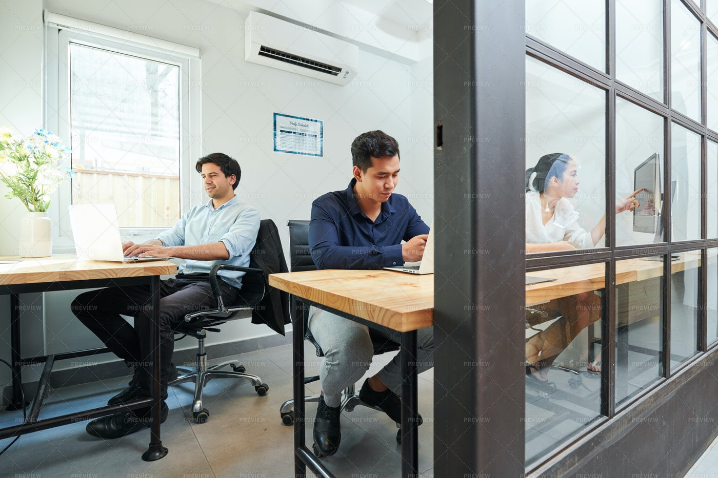 People Working At Modern Office: Stock Photos