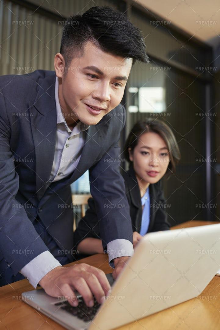 Business Team Checking E-mails: Stock Photos
