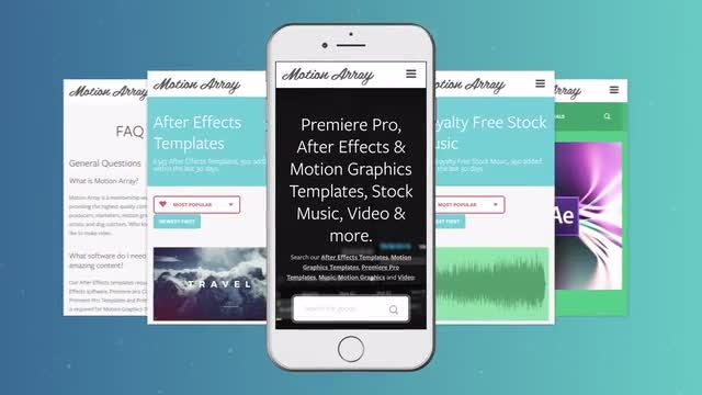 Phone App Promo: After Effects Templates