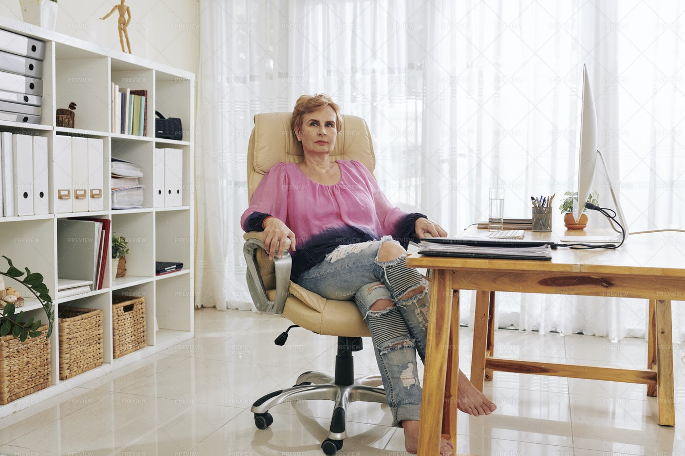 Confident Aged Business Lady: Stock Photos