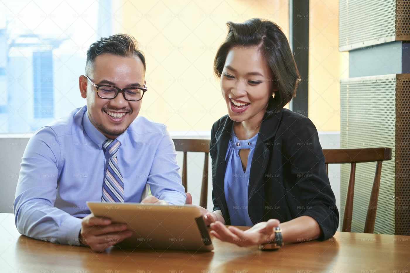 Business People Watching Presentation: Stock Photos