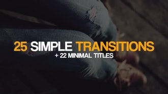 25 Simple Transitions & 22 Minimal Titles: Premiere Pro Templates