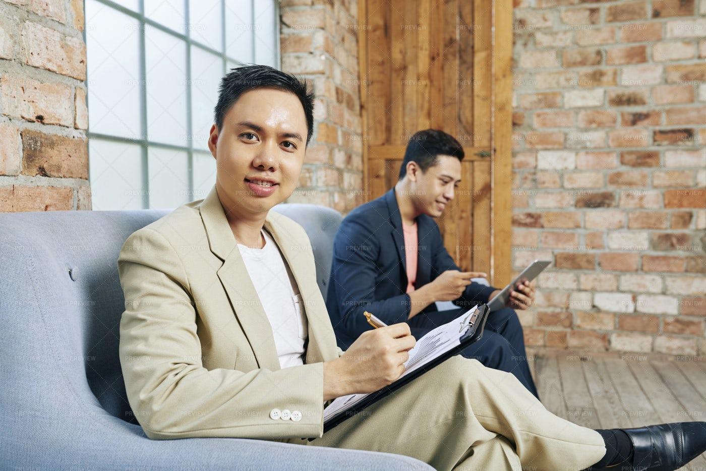 Businessman Analyzing Financial Chart: Stock Photos