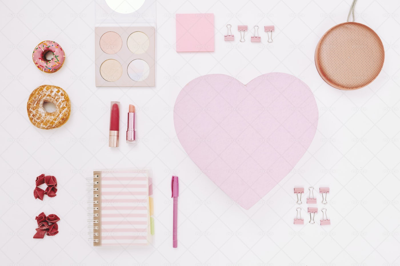 Cosmetics And Notepads For Women: Stock Photos