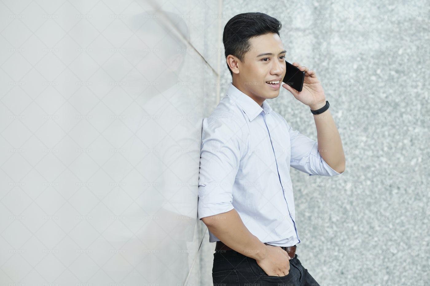 Businessman Making Phone Call: Stock Photos