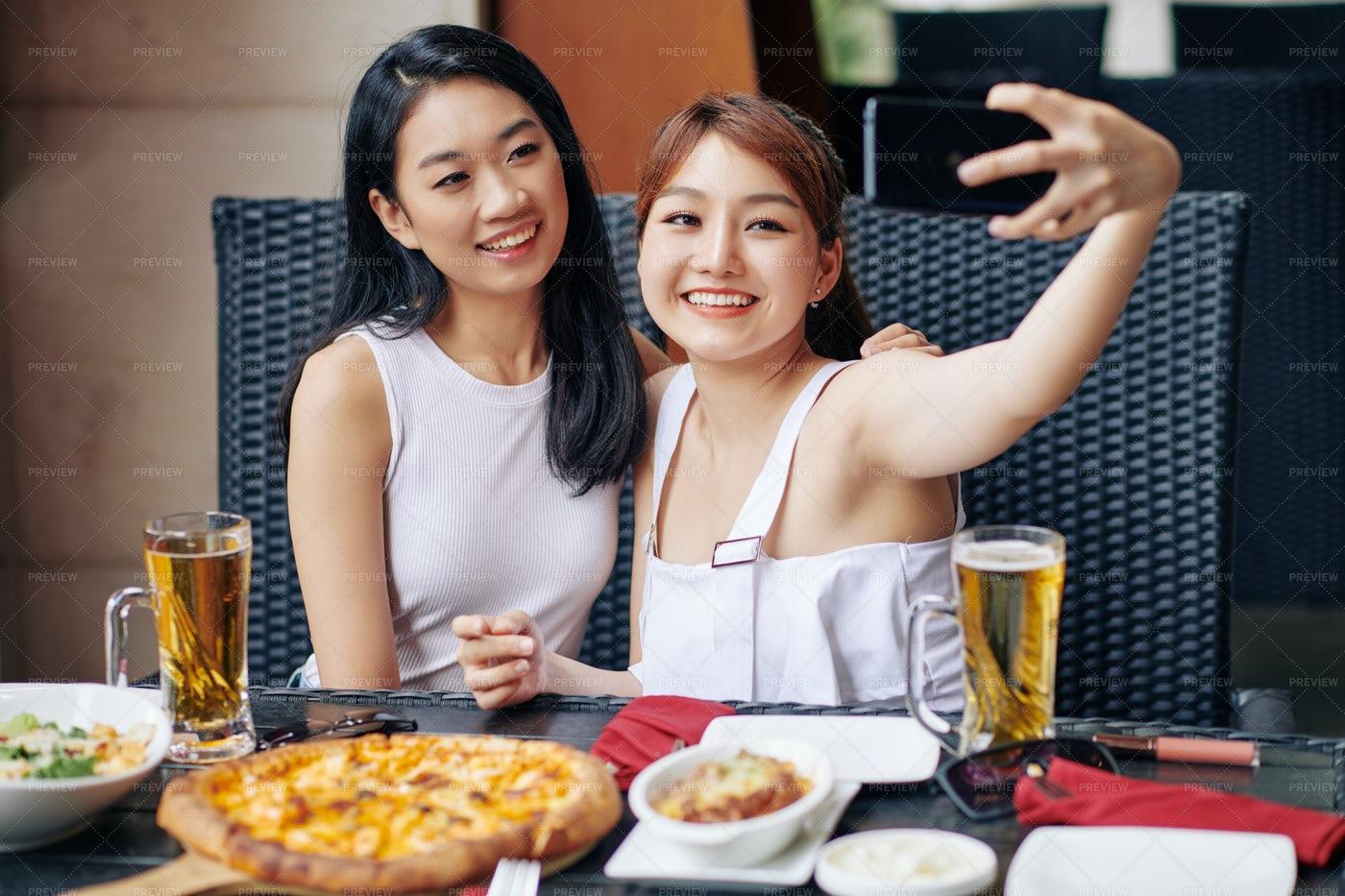 Selfie Portrait With Friend: Stock Photos