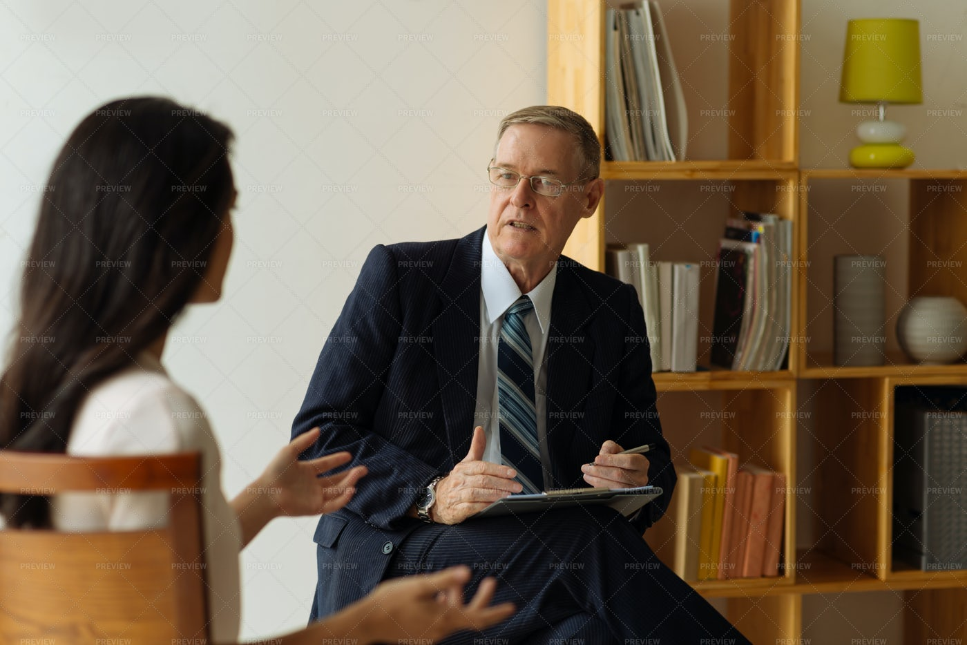 Phycologist Talking To Patient: Stock Photos