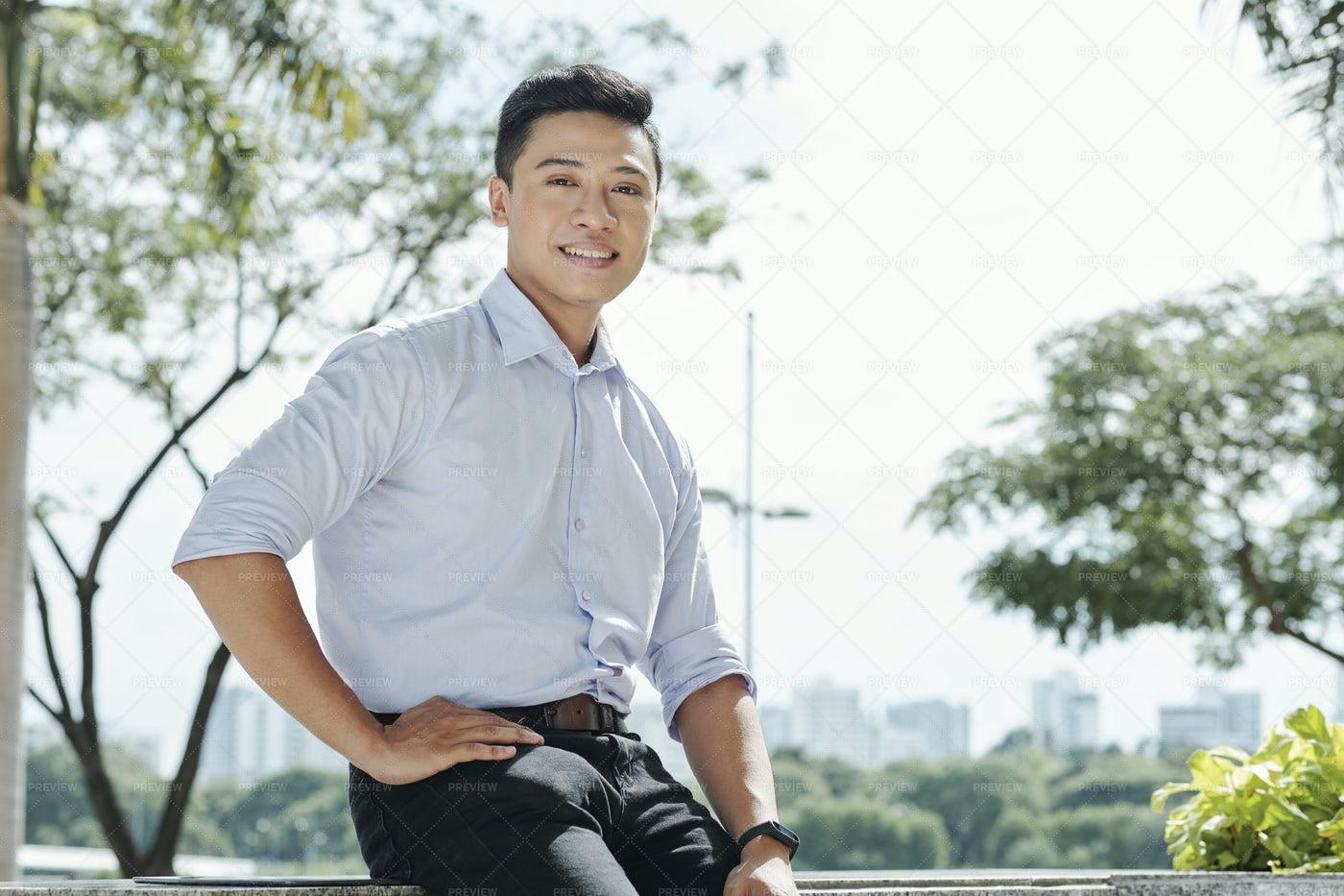 Smiling YYoung Entrepreneur: Stock Photos