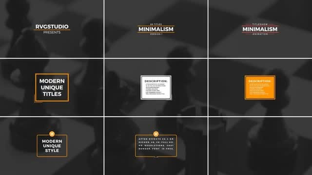 Minimal Titles & Lower Thirds 1: After Effects Templates