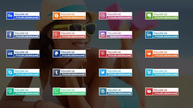 20 Clean Social Media Lower Thirds: After Effects Templates
