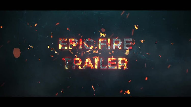 Epic Fire Trailer: After Effects Templates