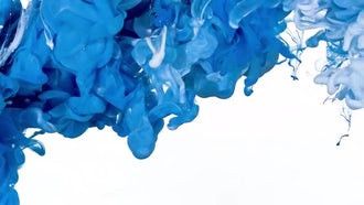 Blue and White Ink Mix: Stock Video