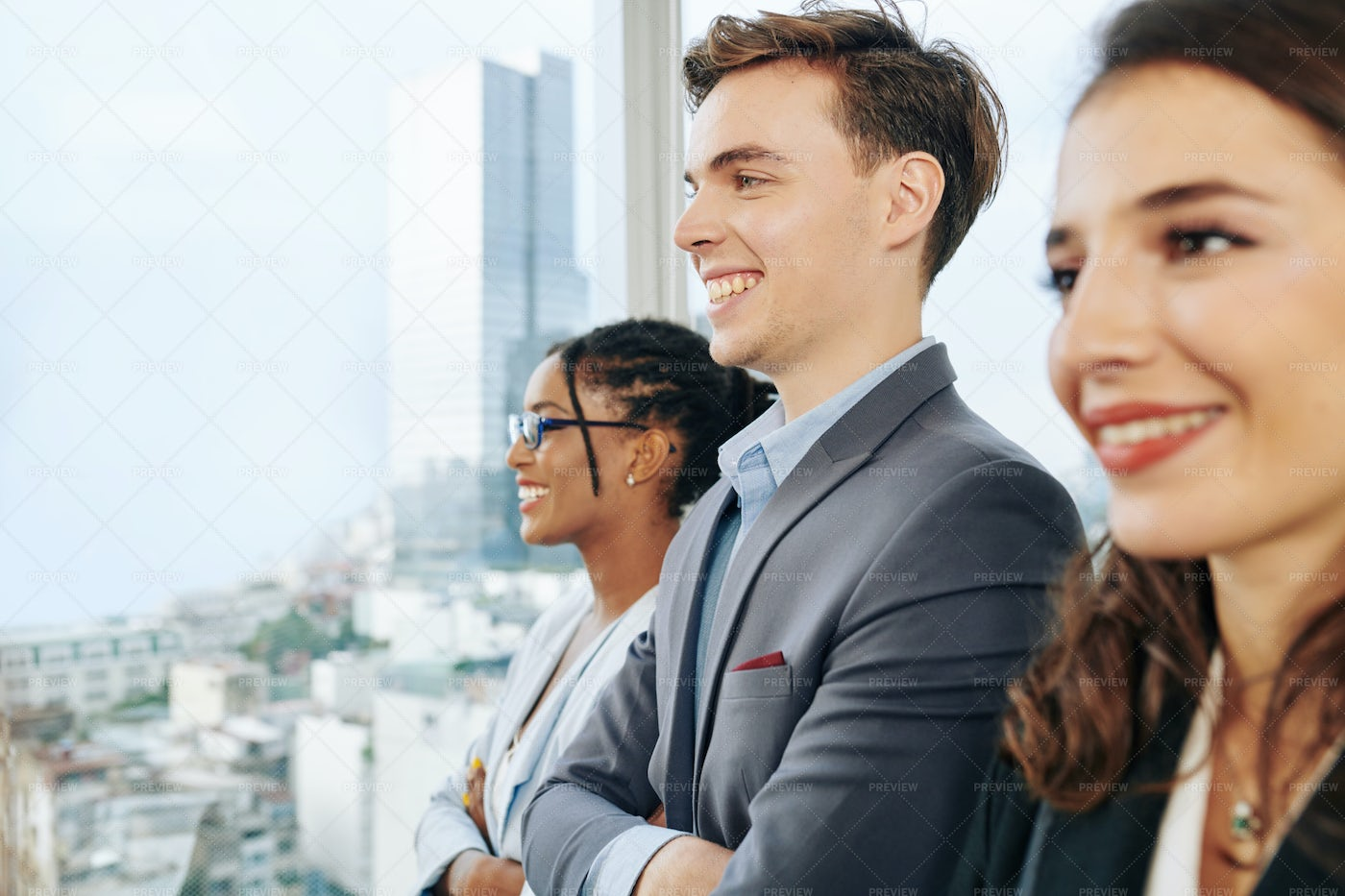 Happy Young Business Team: Stock Photos