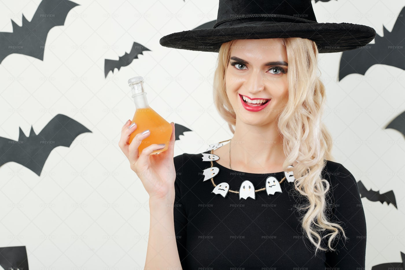 Happy With With Magic Potion: Stock Photos