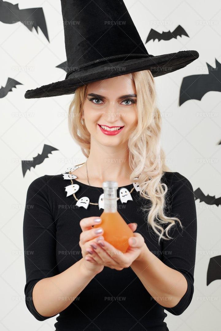 Beautiful Young Sorceress: Stock Photos
