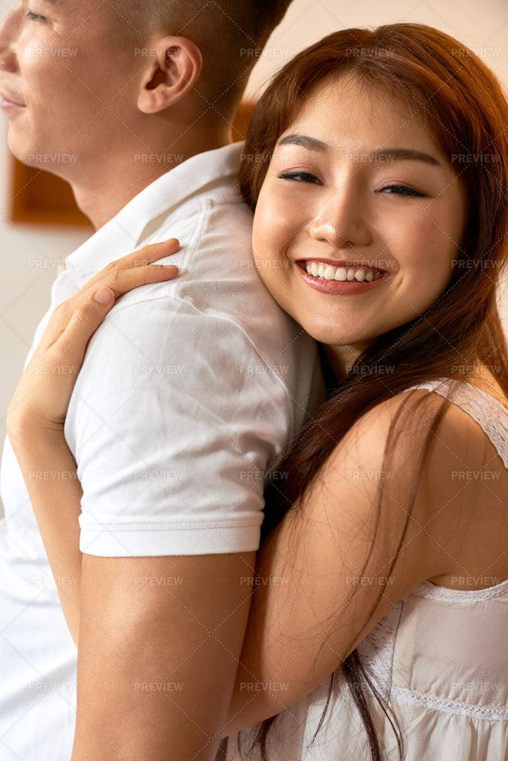 Happy Woman With Boyfriend - Stock Photos   Motion Array